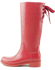 Women's COACH Signature Rain Boots Red Sizes 5, 6, 7, 8 & 11 Style Number FG1876