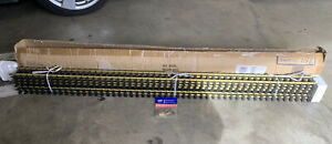 """USA Trains G Scale Track R81065 BRASS 6 Piece 60"""" 5 Ft Straight Track Sections"""