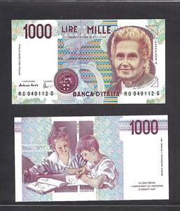 Italy p-114c , UNC, 1000 Lire, 1990 , LOT OF 10 PIECES!!