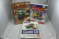 Lot of 3 PC Games 3D Pinball, Casino CD and The Entertainer With 5 Games. New!