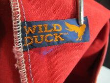 Vintage Canvas Wild Duck Design Expandable Field Bag, Book Bag or ?