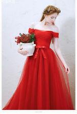 2016 Collection Off Shoulder Red Wedding Dress