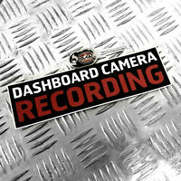 1X DASHBOARD CAMERAS RECORDING - FUNNY CAR STICKER DECAL BUMPER