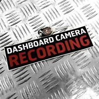 1X DASHBOARD CAMERAS RECORDING - FUNNY CAR STICKER DECAL BUMPER
