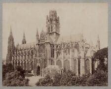 Abbaye Basilique Saint-Ouen de Rouen France Vintage albumine ca 1880
