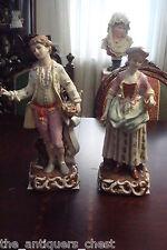 GREINER & HOLZAPFEL? Germany- Mid Century figurines, lady & gent 1800s attire[8]