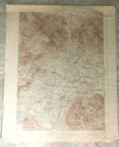 Antique 1931 Geological Survey Topographic Map NH Sandwich Tamworth Waterville