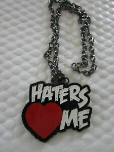 Haters Love Me The Miz Chain Pendant Necklace Wrestling WWE AEW Impact NXT WWF