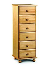Pickwick 6 Drawer Narrow Chest Solid Pine   Free Delivery