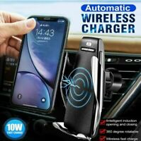 Qi Wireless Car Charger Charging Auto Clamping Air Vent Phone Holder Universal