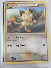 Pokemon Cards HEART GOLD & SOUL SILVER MEOWTH 75/123 Card NEW Collectors
