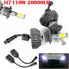 2X 110W 20000LM H7 LED Weiß Auto Licht Headlight Scheinwerfer Glühlampe 12000K