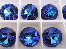 1 Crystal Heliotrope Foiled Swarovski Rivoli Stone 1201 27mm