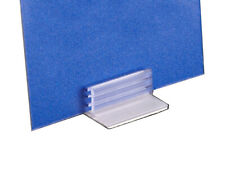Stick On Signage Holder for Flat Surfaces, Self Adhesive Sign Card Holding Grip