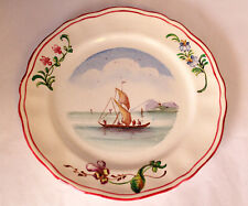 VEUVE PERRIN SEAU A BOUTEILLE FRENCH FAIENCE BREAD AND BUTTER PLATE VP ANTIQUE