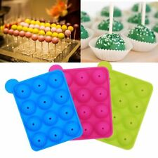 Pop Non-Stick Cupcake Baking Silicone 12-cavity Mould Lollipop Mold Cake Mold