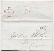 * 1839 ROSSO Boxed Londra late Fee l40b Thomas Saunders > George ackworth @ Chatham