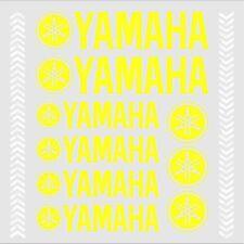 9x YAMAHA FLUO Yellow STICKERS TMAX Majesty Super Tenere XT TDM TW WR XV YS YBR