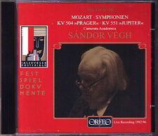 Sandor Vegh: Mozart Symphony No, 38 Prague 41 Jupiter cd sinfonie Live 1992 1996