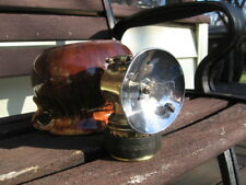 JUST RITE BRASS CARBIDE COAL MINERS LAMP LIGHT WITH 3'' REFLECTOR+RUBBER BUMPER