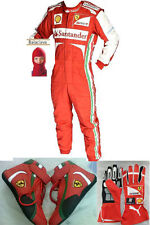 go kart Ferrari race suit CIK FIA Level 2 Approved Shoes (With Free Gift Gloves)