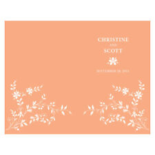 Forget Me Not Personalized Wedding Programs 24/pk