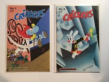 Critters #7 and #8 NM/NM+ (Fantagraphics,1987) Jack Bunny, Gnuff, & Lionheart!