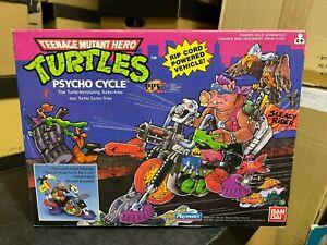 Boxed 80s TMNT Teenage Mutant HERO Ninja Turtles PSYCHO CYCLE Playmates BANDAI