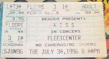 Kiss Reunion Tour Fleet Centre Boston Ticket 30th July 1996