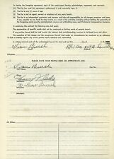 Danny Kladis Signed 1956 Release Form from the Milwaukee Mile - Indy signed