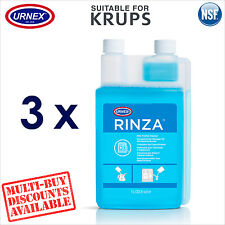 3 x Urnex Milk Line Spout Frother Cleaner 1.1L for Krups Coffee Machine