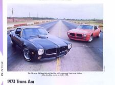 1973 Pontiac Firebird Trans Am SD 455 ci info/spec/photo production numbers 11x8
