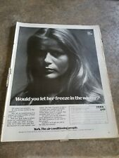 1970 Vintage  Ad York Air Conditioning Print Ad.