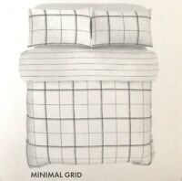 Modern Large Check Reversible Super King Duvet Set