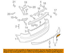 AUDI OEM 06-08 A3 Rear Bumper-Tow Hook Eye Cap Cover 8P4807441AGRU