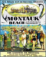 Montauk Beach 1929 Long Island NY Vintage Poster Print Retro Style Advertising