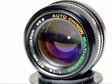 Vtg Auto Chinon Agfa Multi-Coated 50mm 1.4  PK bayonet prime fast clean lens EUC