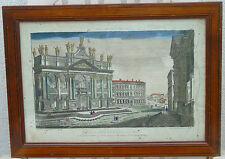 74e Vue de l'église de St Jean de Latran à Rome - Gravure en couleur circa 1800