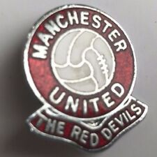 MANCHESTER UNITED THE RED DEVILS Football Brooch Pin Badge