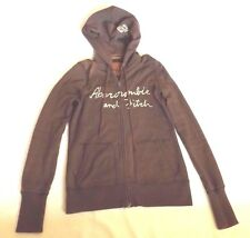 "MENS L BROWN ABERCROMBIE & FITCH FULL ZIP HOODIE SWEATSHIRT CHEST 34"" 86cm"