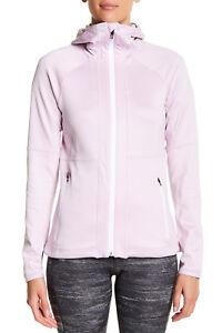 Adidas Women Full Zip Jacket Light Pink Flex Fleece Hoodie B47158 NEW