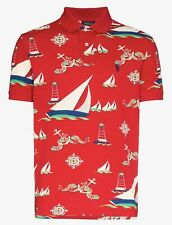 Polo Ralph Lauren Boat Print Short-Sleeve Polo Shirt Size M