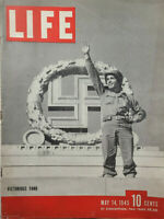 Life May 14 1945 Vtg Magazine WWII World War 2 Victorious Yank Soldier - GD