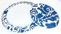 House Beautiful Dinner Plate and Salad Plate, Set of 2 Serving Plates in Indigo
