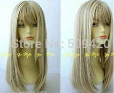 ZWW-JF25  pretty New long dark blonde mixed straight  hair wigs for women wig