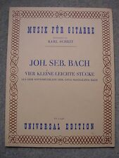 Vier Kleine Leichte Stucke, Music for Guitar, JS Bach, German
