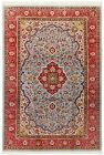 Hand Knotted Blue Red Wool Fine Qumm Area Oriental Rug Carpet 7 x 10