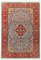 "Hand Knotted Blue Red Wool Fine Oriental Rug Carpet 6'11"" x 10'3"""