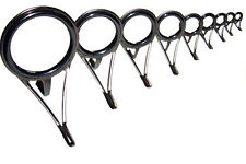 set Solid Silicon Carbide (SIC) Ring-locked Spinning Rod Guides up to #50