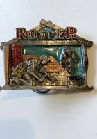 Great American Buckle Company Vintage Roofer Belt Buckle USA Roofing Worker